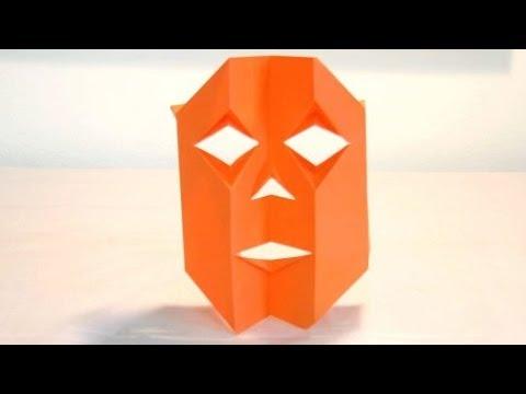Origami Jack O Lantern Mask