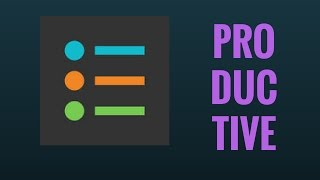 Tuesday Tech Tip #20 - Productive - Habit and Goal Tracking App