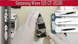 How to disassemble 📱 Samsung Wave 525 GT-S5250 Take apart Tutorial