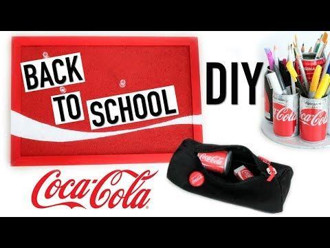 DIY Back To School COCA COLA : Fournitures Scolaires (français)
