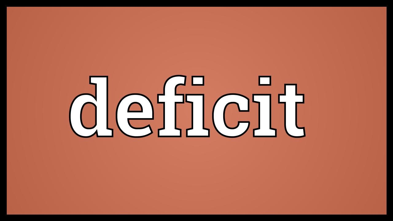 what does the deficit mean
