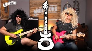 Two Legends of British Rock check out the new 2016 Charvel Guitar Range