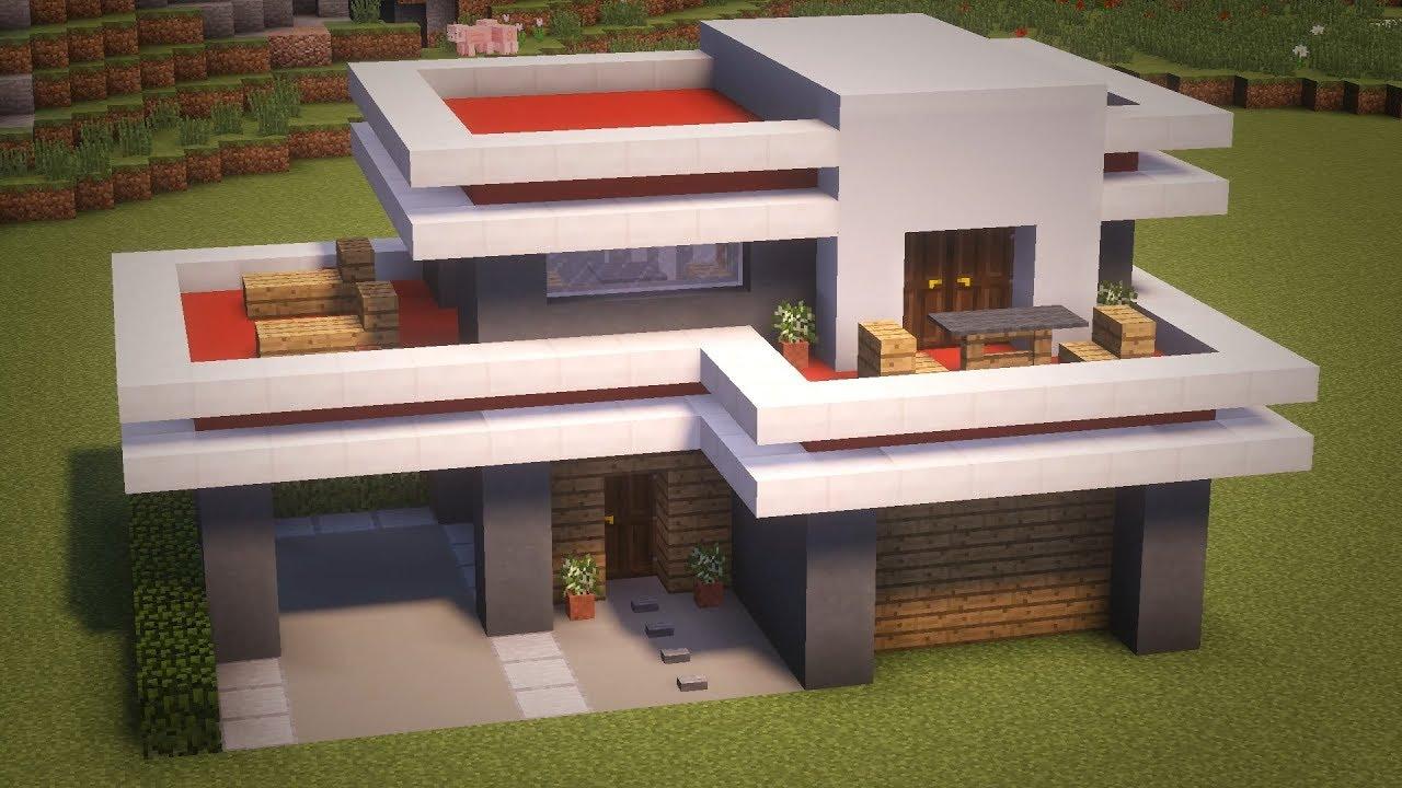 дом в стиле хай тек майнкрафт #2
