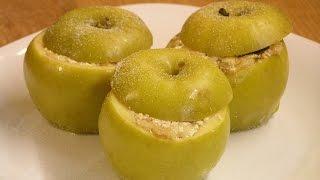 Яблоки запечённые с творогом - детский десерт / How to make Baked apples ♡ English subtitles