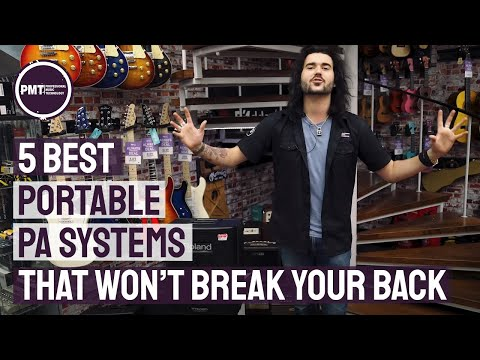 5 Best Portable PA Systems That Won't Break Your Back - YouTube