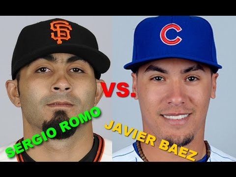 Sergio Romo trying to piss off Javier Baez in game 3  NLDS (Cubs vs Giants)