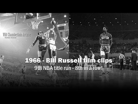 Bill Russell 1966 NBA Playoffs and Season Clips
