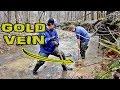 Gold Prospecting on a New Creek - Rainy Day and Quartz Veins