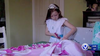 Pageant Girl Making Blankets