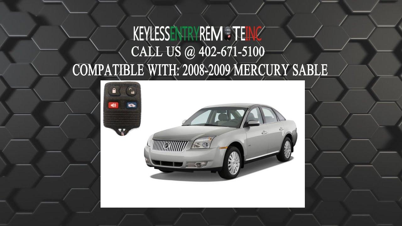 mercury sable 2004 key programing