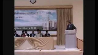 Majlis-e-Shura - Farewell Speech - Mirza Fakhar Ahmad Sahib