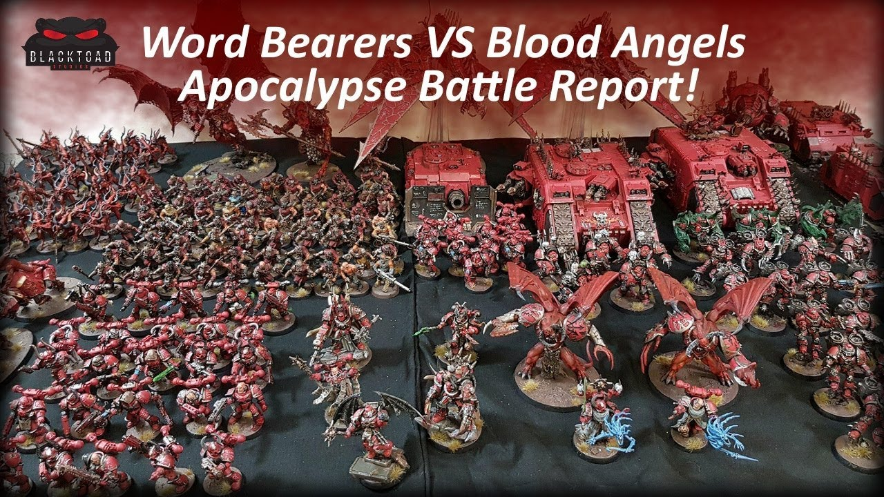Apocalypse 8th Edition - 6000 points Word Bearers VS Blood Angels -  Warhammer 40k Battle Report