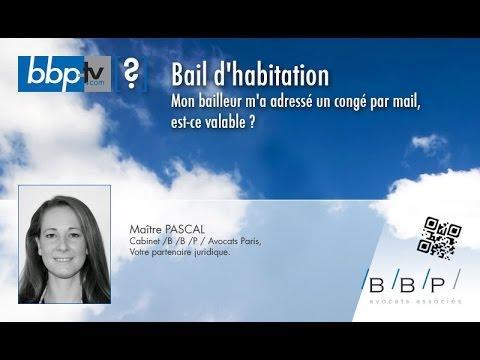 Avocat Paris - Congé bail d'habitation