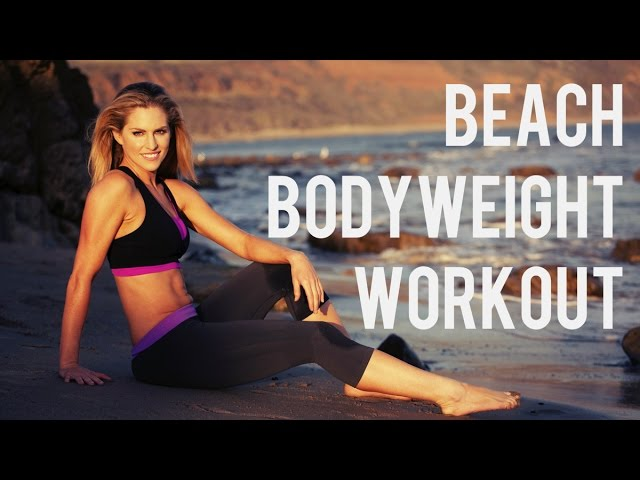 25 Minute Beach Bodyweight Workout--No Equipment needed!