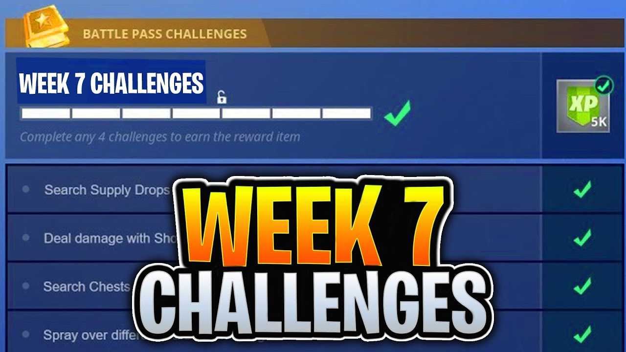 Fortnite Week 7 Challenges Leaked Fortnite Season 4 Battle Pass