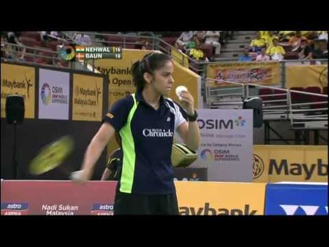 QF - WS - Saina Nehwal vs Tine Baun - 2012 Maybank Malaysia Open