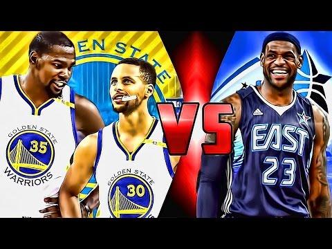 NBA 2K17 - GOLDEN STATE WARRIORS VS. EAST ALL STARS!!! THIS TEAM INSANE!!!