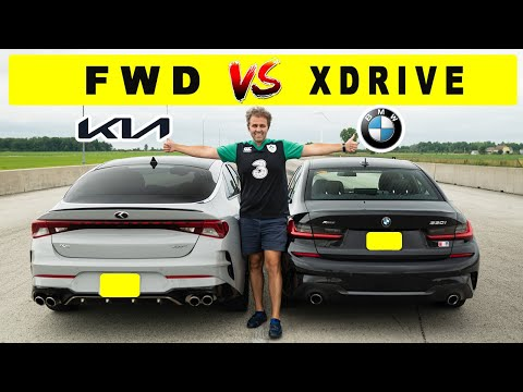 2021 BMW 330i Xdrive against Kia K5 GT, the unusual match! Drag and roll race.