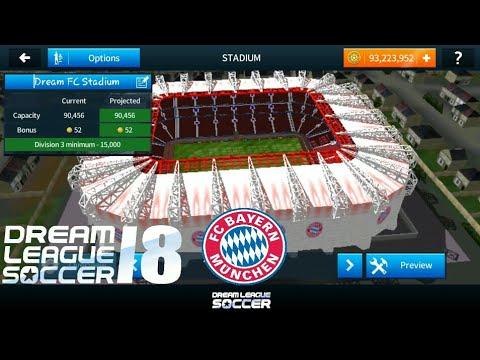 How to change the stadium Of Dream league soccer 2018 (Bayern München    Bayern Munich) Stadium