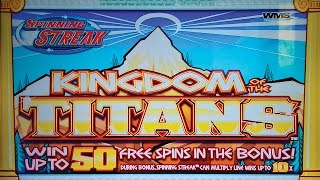 Kingdom of the Titans Slot - $9 Max Bet - BIG WIN BONUS!