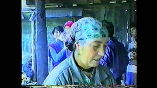 Тётя Зозан делает лаваш для свадьбы 08.1995. Езиды. Ярославль.