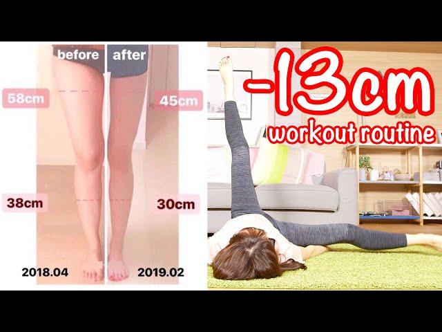 【1日1回】13cm太ももが細くなった最強足パカルーティン!正月太り解消!