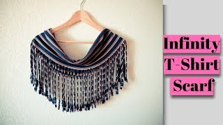 How To Make a Fringe T-Shirt Scarf! No Sew DIY