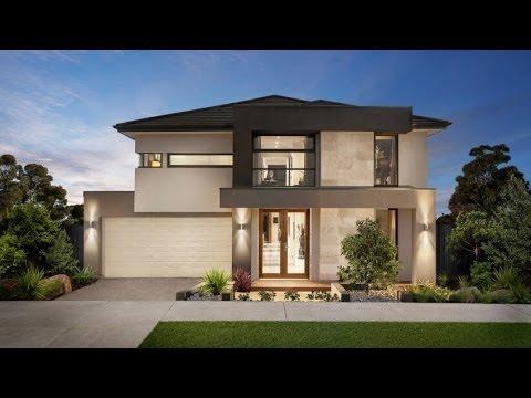 Dise o de casa moderna de dos pisos fachada e interiores for Fachadas casa modernas pequenas