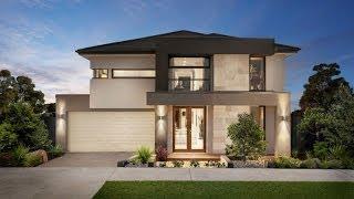 Diseño de casa moderna de dos pisos, fachada e interiores thumbnail