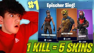 1KILL = 5 FREE SKINS FOR MY BEST FRIENDS!! (Fortnite Challenge) with RECON EXPERT