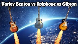 Harley Benton 450 SC vs Epiphone Les Paul Standard vs Gibson Les Paul Standard 50's