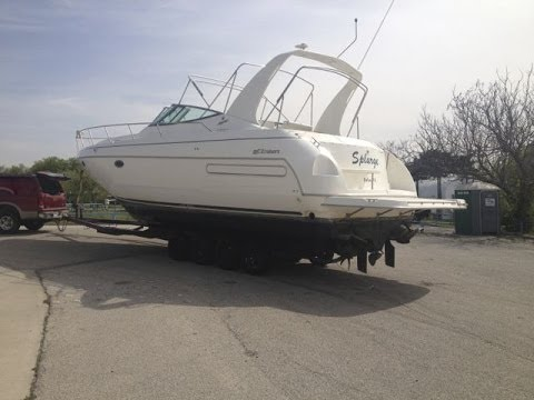 Hauling The Cruisers Yachts 3575 Out Of The Water And Kohler