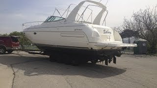 Hauling the Cruisers Yachts 3575 out of the water and Kohler Generator repair