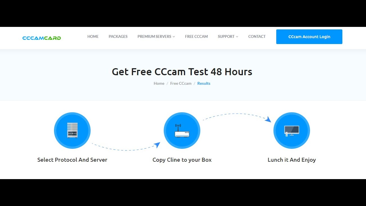 Free Cccam Server Test Cline Instant Generate 48h Free Cccam Server Cccamcard Com Youtube