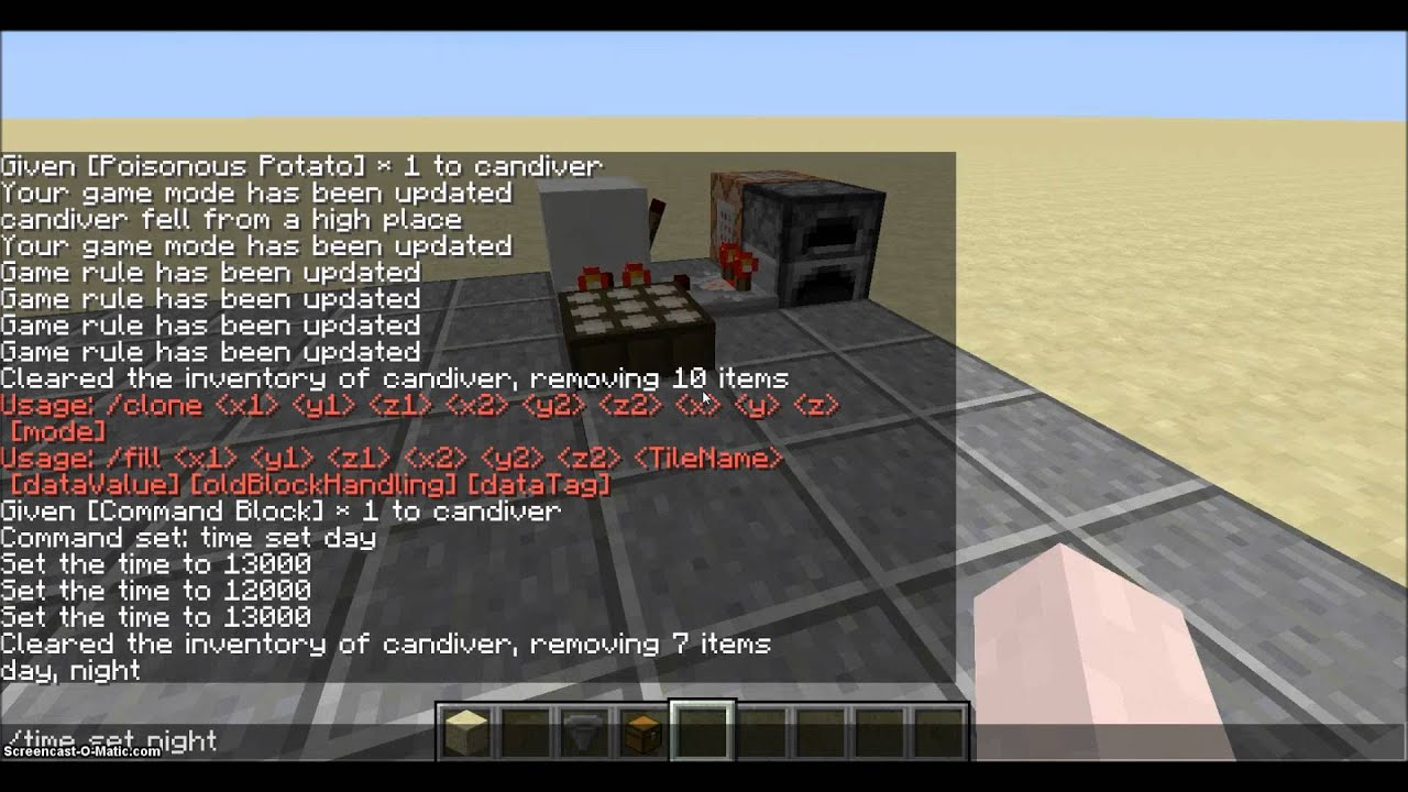 how to set time in minecraft 1.8
