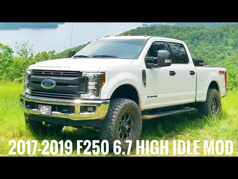 2017-2018 Ford F-250 6.7 Diesel High idle with upfitters.