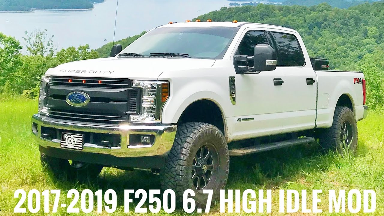 2017 2018 ford f 250 6 7 diesel high idle with upfitters  [ 1280 x 720 Pixel ]