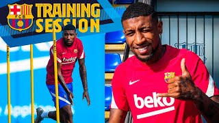 👑👑 EMERSON ROYAL'S FIRST TRAINING WITH BARÇA 👑👑