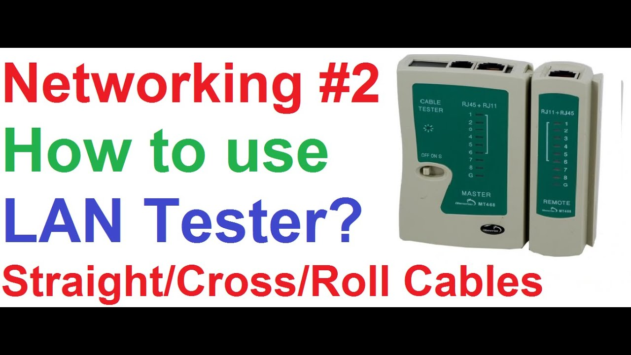 CCNA 2_How to Use LAN Tester to Test StraightCrossoverRollover UTP Cables  Useful Info  YouTube