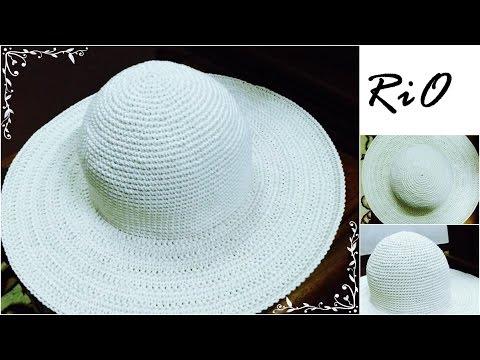 [Crochet] Hướng dẫn móc mũ rộng vành mùa hè