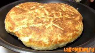 Дачный хлеб на сковороде. Простой рецепт