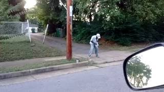 This guy was dancing in my alley to nothing so I gave him a soundtrack.