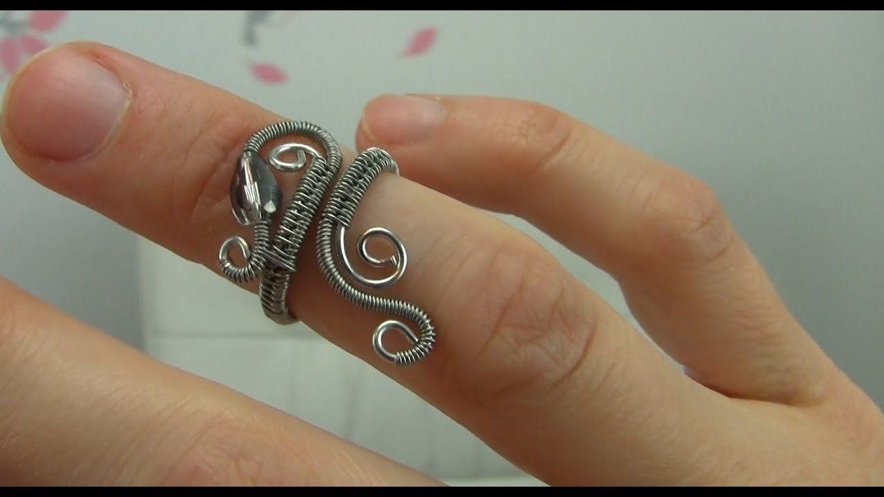 Wire Ring With Red Stone