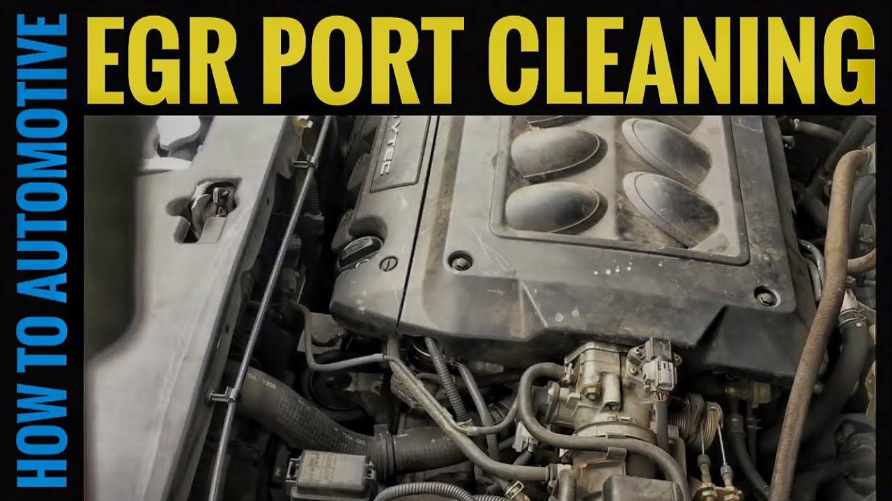 How to clean the egr port on a 1998 2004 honda odyssey p0401 youtube