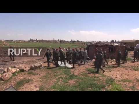 Syria: Syrian Army inspects damaged Shayrat airbase