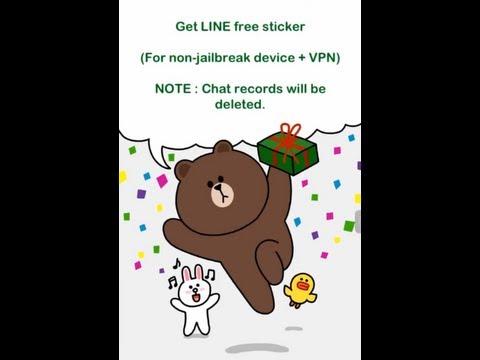 Get LINE free sticker ( For non-jailbreak device + VPN )