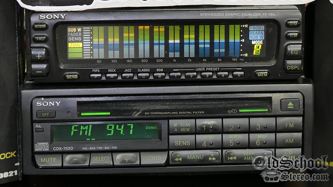 1990 Sony Cdx 7520 Cd Tuner And Xe 744 Eq Teaser Youtube