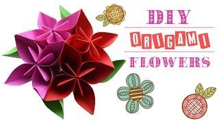 Оригами цветы * Видео урок * DIY origami flowers * Decorate your room (eng subs) * So kawaii(Украсьте свою комнату оригами цветов. Пошаговый видео урок. Decorate your room with origami flowers. Step by step tutorial with english subtitles...., 2016-01-18T16:08:14.000Z)