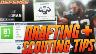 Madden 19 Franchise Scouting and Drafting Tips! How to Scout and Draft Defense!