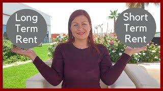 Short term rental Vs Long term rental in Dubai Real Estate. Dubai Property Expert